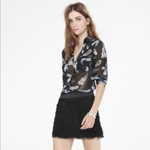 Express shirt portofino long sleeve feathers